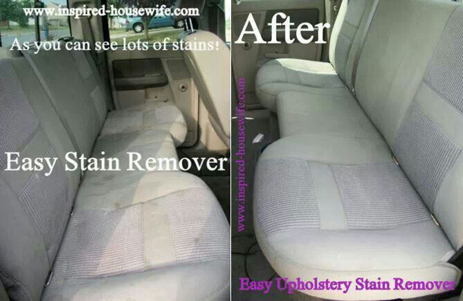 Easy Car Upholstery Stain Remover Recipe Soaps White Vinegar And Sodas