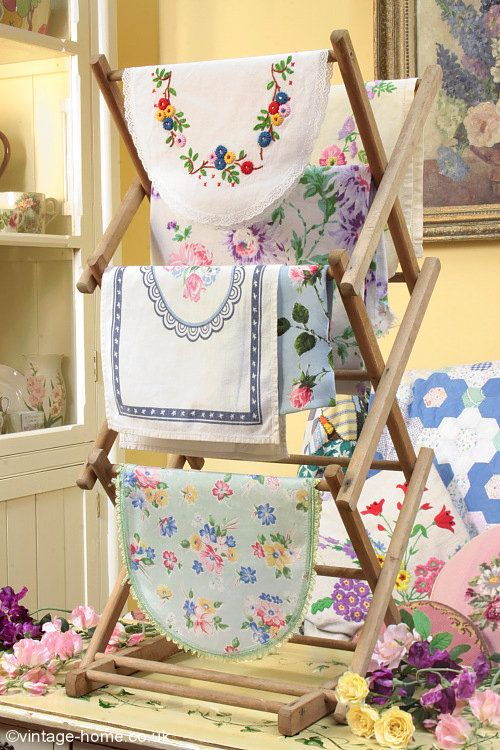 Vintage Home - Vintage Linens and Wooden Airer: www.vintage-home.co.uk