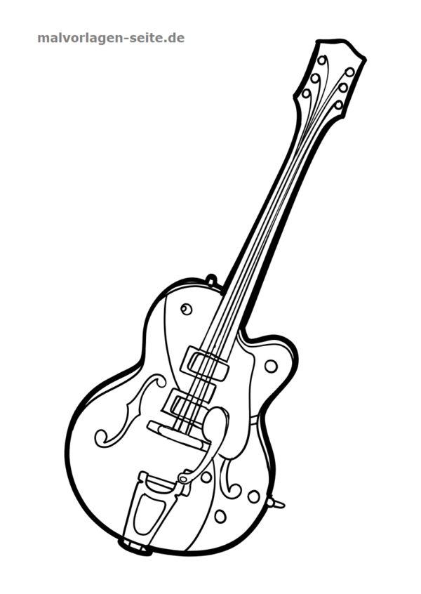 malvorlage gitarre  musik  kostenlose ausmalbilder