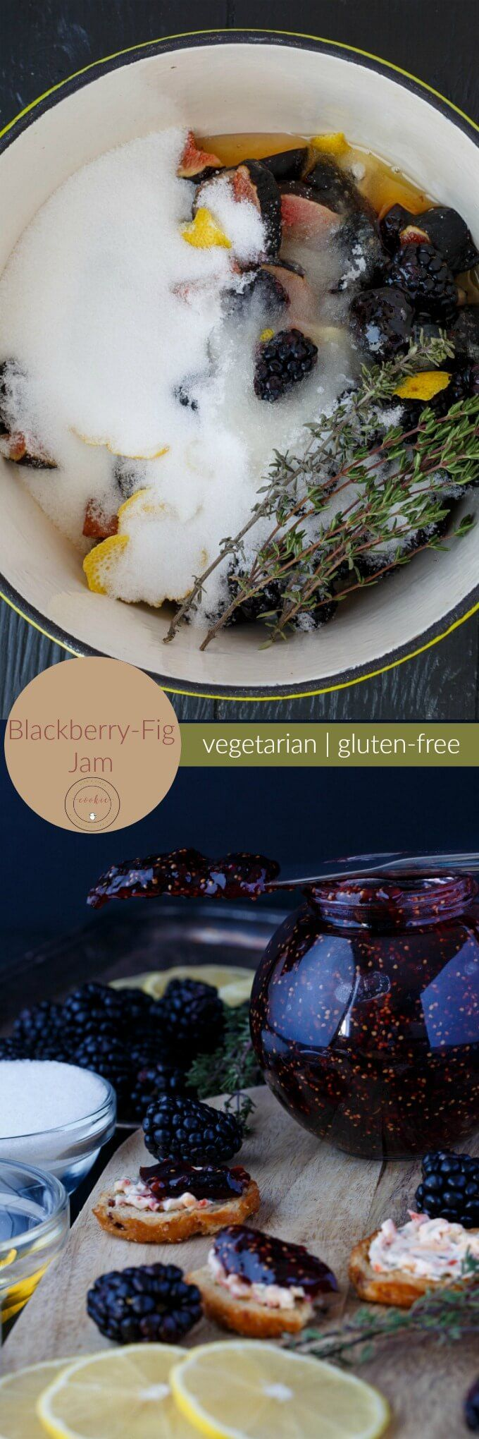 Blackberry-Fig Jam | http://thecookiewriter.com | @thecookiewriter | #jam | This homemade jam is super easy to make, and creates enough to last you a few weeks :) Vegetarian, gluten-free, and vegan (you can sub in all sugar for the honey.)