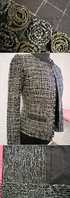 Um método de fazer crazy-tecido para criar zhaketa- Chanel.  Master Class