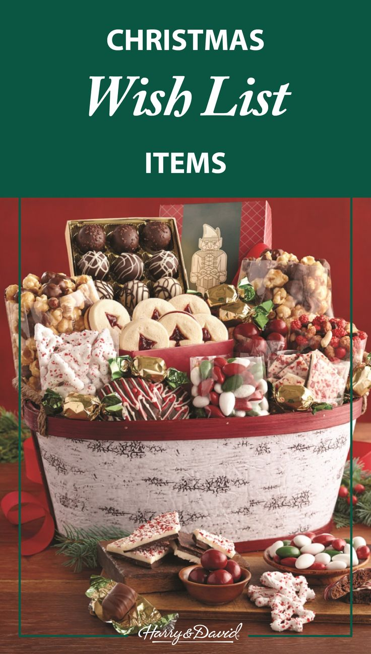 25 best holiday gift baskets images on pinterest christmas shop harry david christmas gift baskets desserts wine more christmas delivery gifts for a stress free holiday negle Choice Image