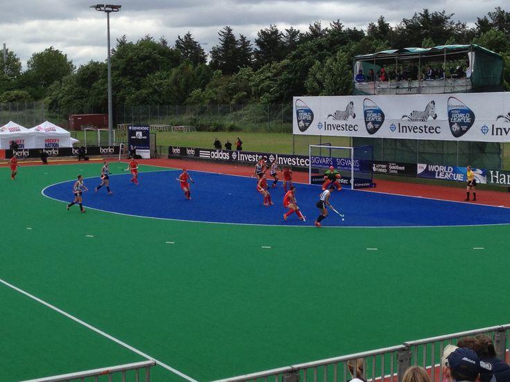 Investec World League Hockey Semi-final. Chiswick.