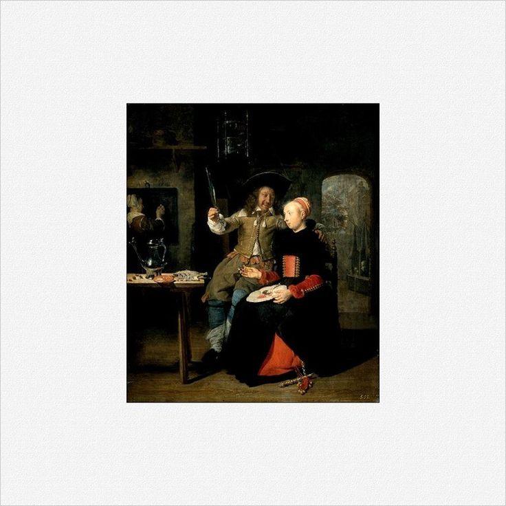 Gabriel Metsu · Autoritratto come figliol prodigo · 1661 · Collezione privata
