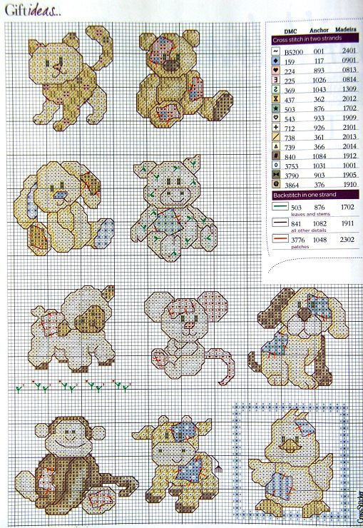 animals baby  cross stitch