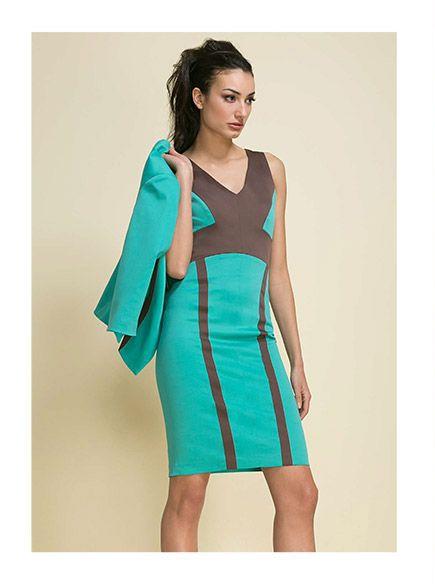 Vestidos de moda color turquesa