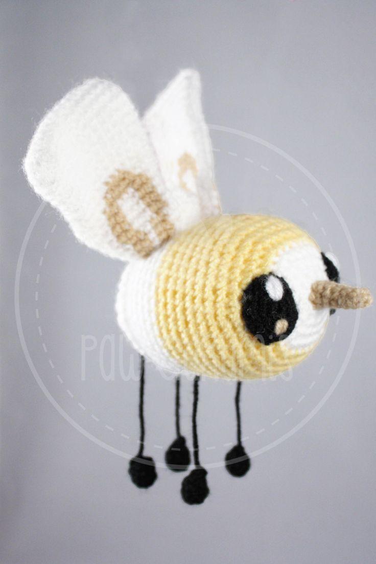 Cutiefly - Pokemon - 12 x 6 cm (5 x 2.5  inches) amigurumi by PawGurumis on Etsy
