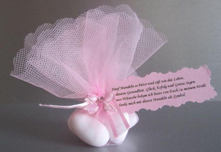 10 gastgeschenke taufe tischdeko dekoration t llkreis rosa mit mandeln m rosa farbwelten. Black Bedroom Furniture Sets. Home Design Ideas