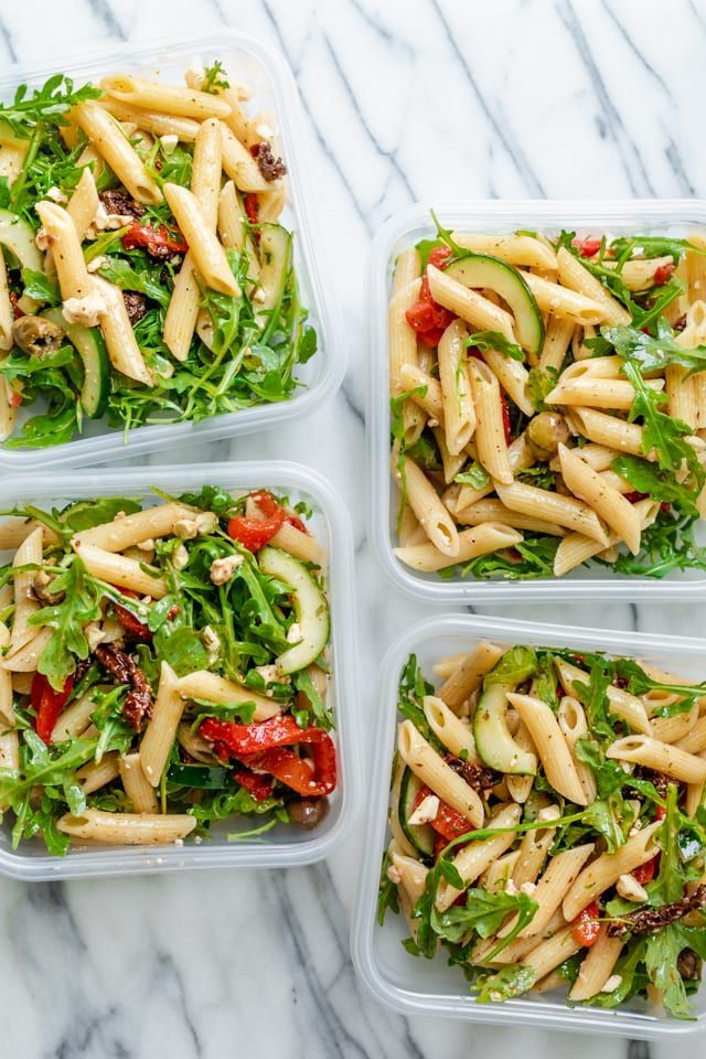 Mediterraner Pastasalat   – The BEST Meal Prep Recipes