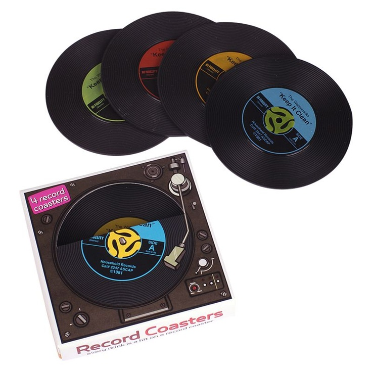 Buy Fred Novelty Record Coaster, Set of 4 online at JohnLewis.com - John Lewis