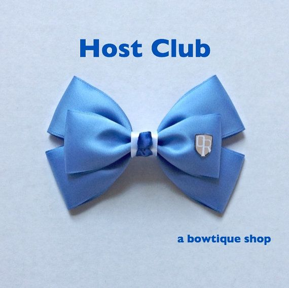 host club hair bow by abowtiqueshop on Etsy