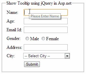 How to show jQuery tooltip message on mouse over on asp.net controls http://www.webcodeexpert.com/2013/11/how-to-show-jquery-tooltip-message-on.html