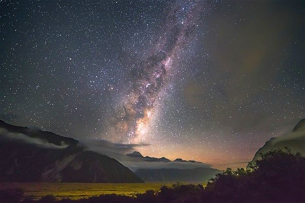 Milky Way over the Mount Cook National Park in New Zealand