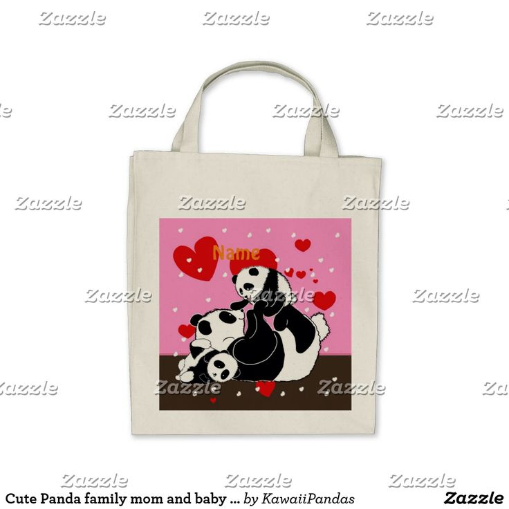 Cute Panda family mom and baby pandas Tote Bag