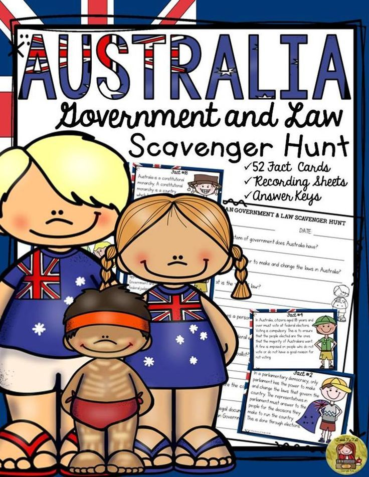 What year did the British colonies unite into a federation of states called the Commonwealth of Australia? Who conducts federal elections and maintains the Commonwealth electoral roll? Your students will enjoy knowing the answers to these and many more interesting questions with this 52 Scavenger Hunt Facts pack on Australia's Government and Law. www.teacherspayte...