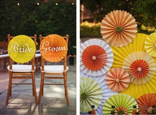 DIY Wedding Decor: Paper Rosettes