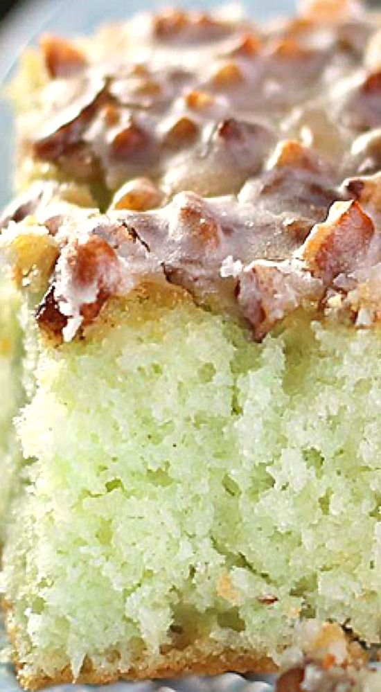 Pistachio Poke Cake.