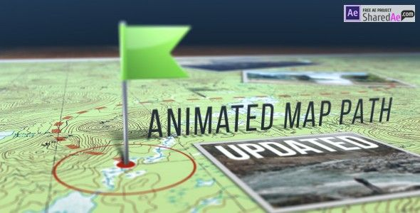 Videohive Animated Map Path 17511599 - Free Download