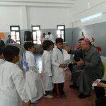 El Obispo comenzó su visita pastoral a la parroquia San Jorge en la escuela del barrio