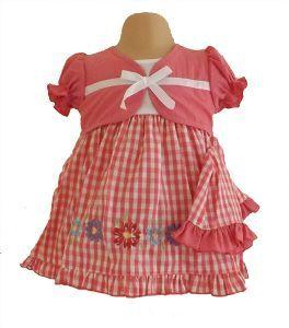 Dark Pink Gingham Dress, Knickers  Sun Hat Set £9.99