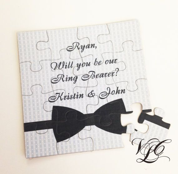 Personalized Ring Bearer proposal Ask Ring by VintageChicLace