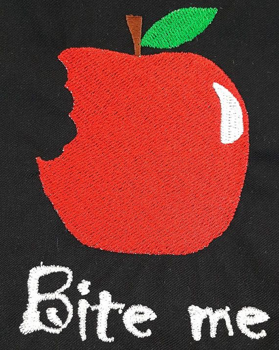 Digital Embroidery Design  Bite me by EmbroideryDesignsBRN on Etsy