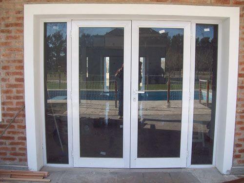 Aberturas de aluminio carpinteria puertas ventanas fabrica - Puertas acristaladas exterior ...