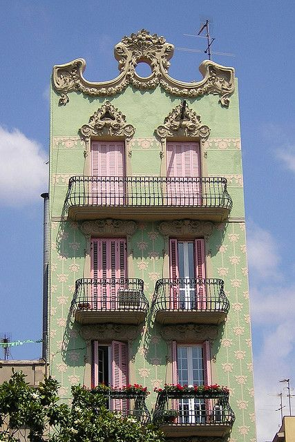 Green and Pink building