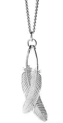 Duo Miromiro Feather Silver Pendant | Shop New Zealand NZ$ 199.00