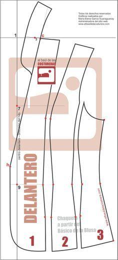 Trazado Chaqueta 101 Baúl Costurera 04/2014 | EL BAÚL DE LAS COSTURERAS