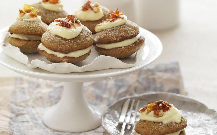 Mini brown sugar and hazelnut whoopie pies recipe | FOOD TO LOVE