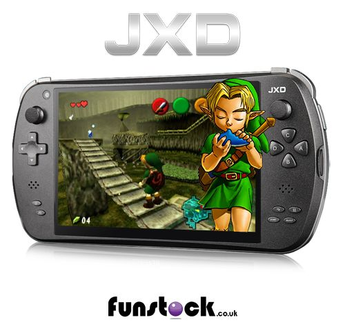 """A powerful Android tablet purpose-built for retro gaming. It comes with free access to a vast library of retro console emulators and games. N64, Dreamcast, NES, SNES, Mega Drive, Game Boy, Playstation... and so much more. HDMI output lets you play on the TV, and the device has full Android functionality - so you can download apps, stream Netflix, etc.  http://www.funstock.co.uk/jxd-s7800b-android-gaming-tablet  Use code """"PINFUN"""" for 5% off!  #retrogaming #gaming #zelda #xmas #giftideas…"""