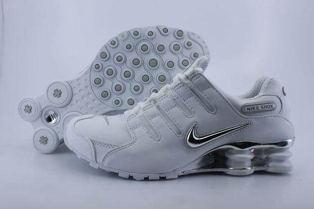 Nike Shox NZ Shoes White Silver For Women(Nike Shox NZ Women)