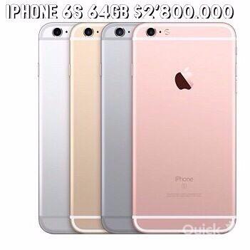 IPHONE 6S 16GB el más económico del mercado entrega inmediata solo $ 2'800.000 inf 3044284047(whatsapp)