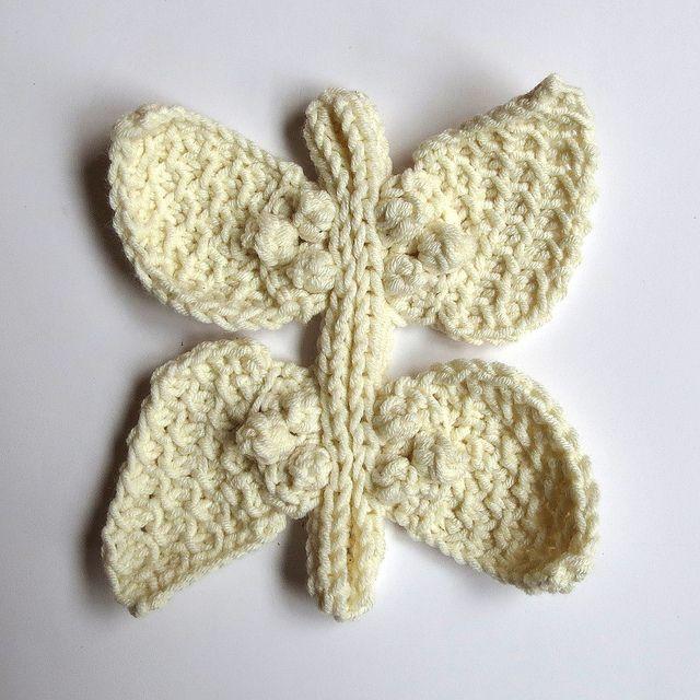 72. Freeform Unicolor Cardigan Butterfly Progress 1 by hykevandermeer, via Flickr