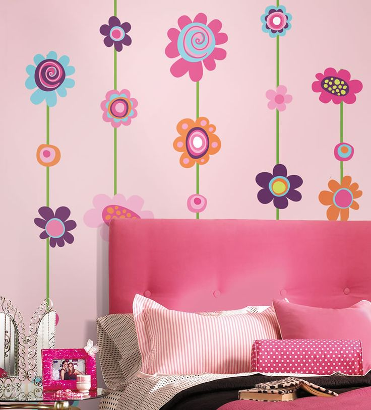 141 best murals decals wall painting images on pinterest interior wall paintings - Entrancing pink and brown girl bedroom for your lovely daughters ...