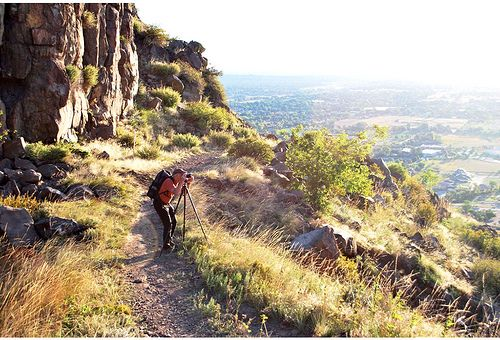 John Fielder taking photographs in North Table Mountain Park by Jefferson County Colorado, via Flickr