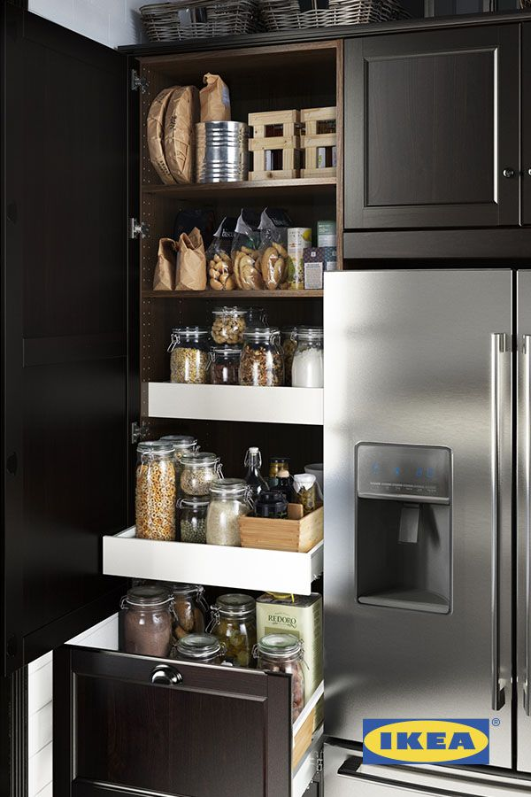 IKEA interior kitchens organizers let you keep everything organized, in its place and out of sight! They fit perfectly in your cabinets, come in a variety of colors and styles and keep all your kitchen spices and supplies right at your fingertips.