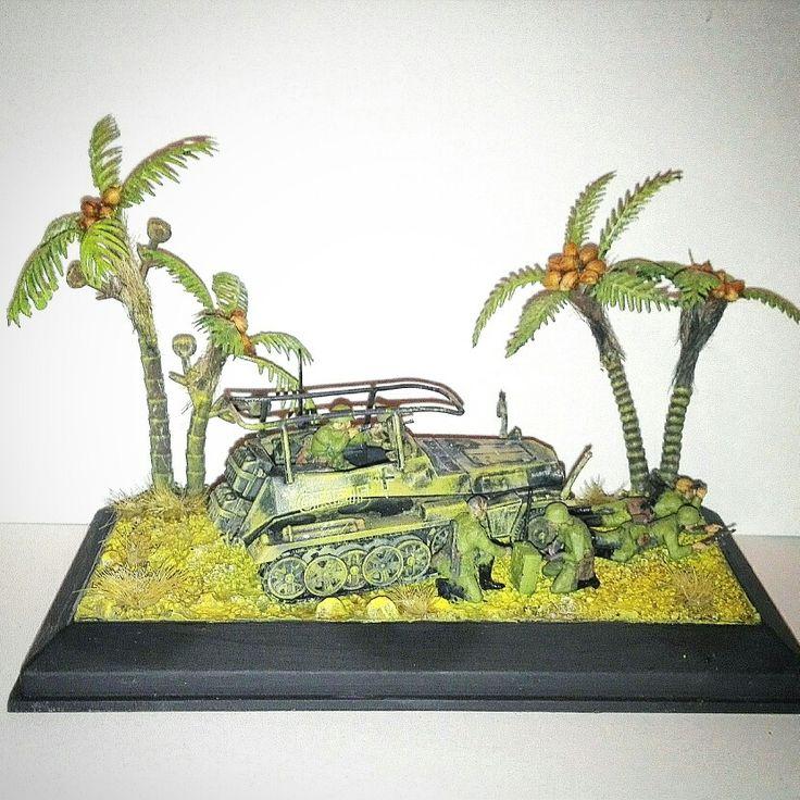 Diorama WWII. Africa korps.