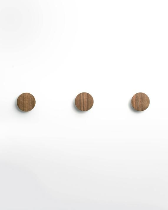Walnut Wall Hooks Perfect For Hanging Coats Bags Hats Etc
