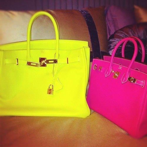 Hermes Birkin Bag in Neon Yellow n Neon Pink. Even the most ...