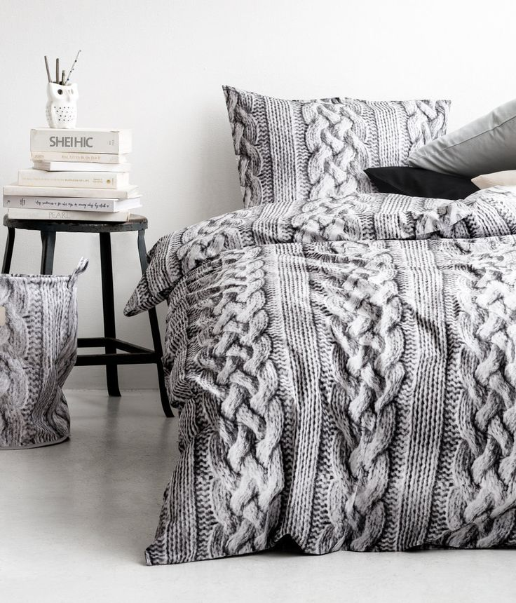 Knitting Inspired Bed Spread And Pillow Set Home Decor