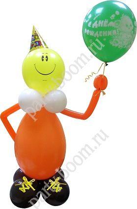Клоун из шаров для именинника - Уроки мастерства - интернет-магазин «Патибум»