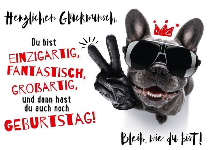 Bleib wie Du bist! | Geburtstagskarten & Sprüche | Echte Postkarten online versenden