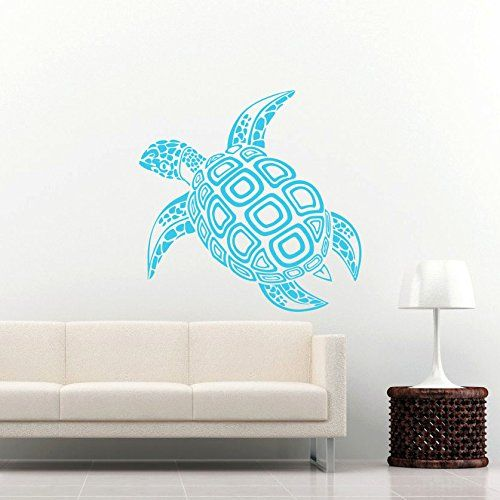 Sea Turtle Wall Decal Ocean Sea Animals Tortoise Decals Wall Vinyl Sticker Home Interior Wall Decor for Any Room Housewares Mural Design Graphic Bedroom Wall Decal Bathroom (5996) stickergraphics http://www.amazon.com/dp/B00LW8KQ9Y/ref=cm_sw_r_pi_dp_L7bYtb1SQXWH9KGT