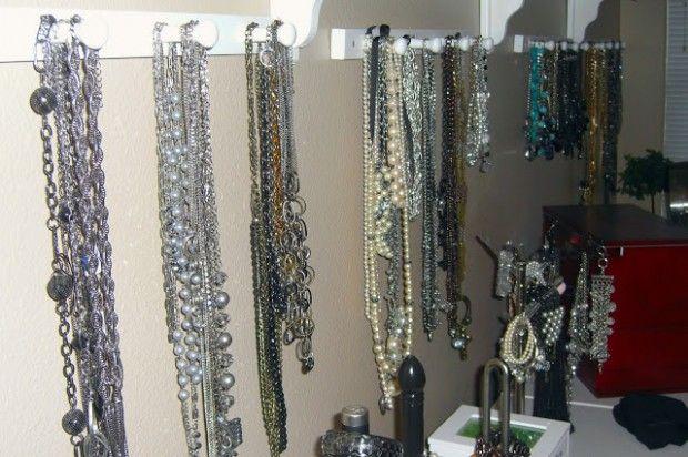 23 Creative Jewelry Organization Ideas Jewellery Storage Jewelry Organization Necklace Storage