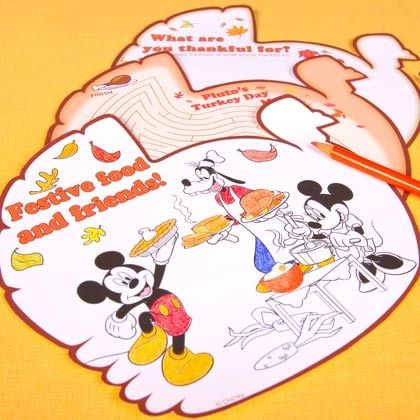 Mickey & Friends Thanksgiving Day Activity Pages