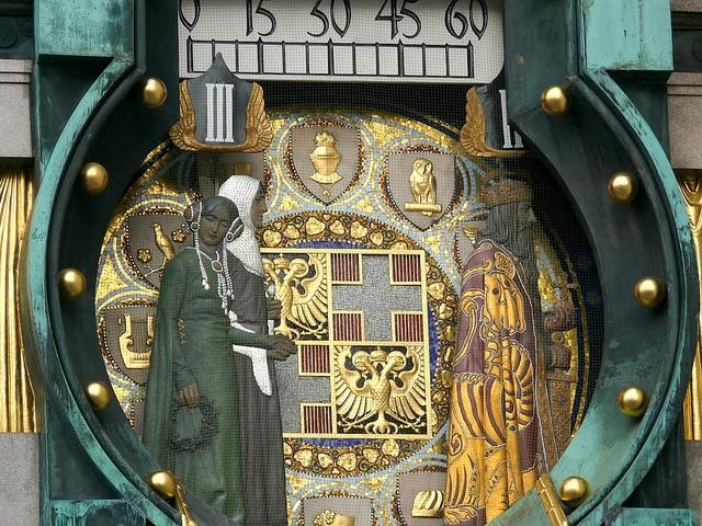 Anker uhr karl d grosse herzog leopold und gemahlin    Austria  Author: Thomas Ledl  Rights: cc-by-sa