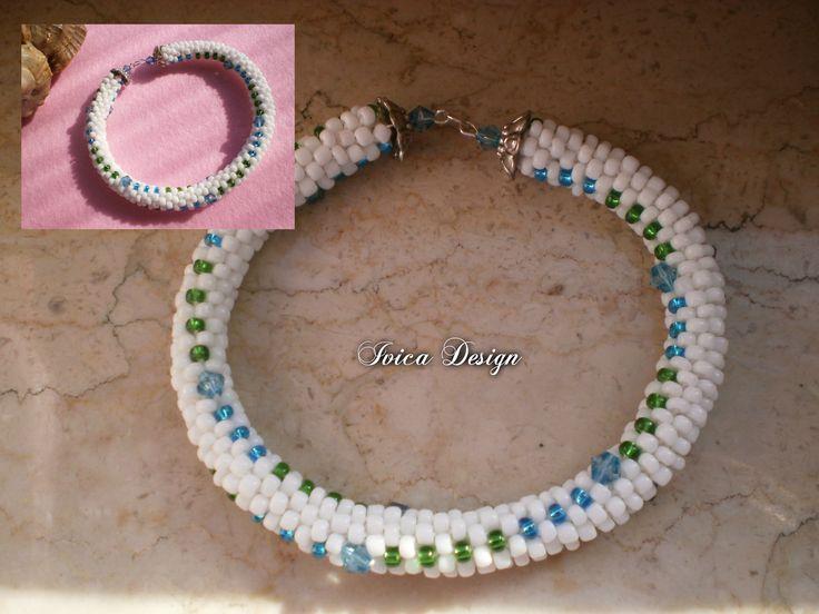Twisted bead crochet braclet <3 Buy my jewelry on https://porteka.com/hu/listings/1260-csavart-mintas-gyongyhorgolt-karkoto-varja-gazdajat-3 Follow me on my facebook page: https://www.facebook.com/IvicaDesign/