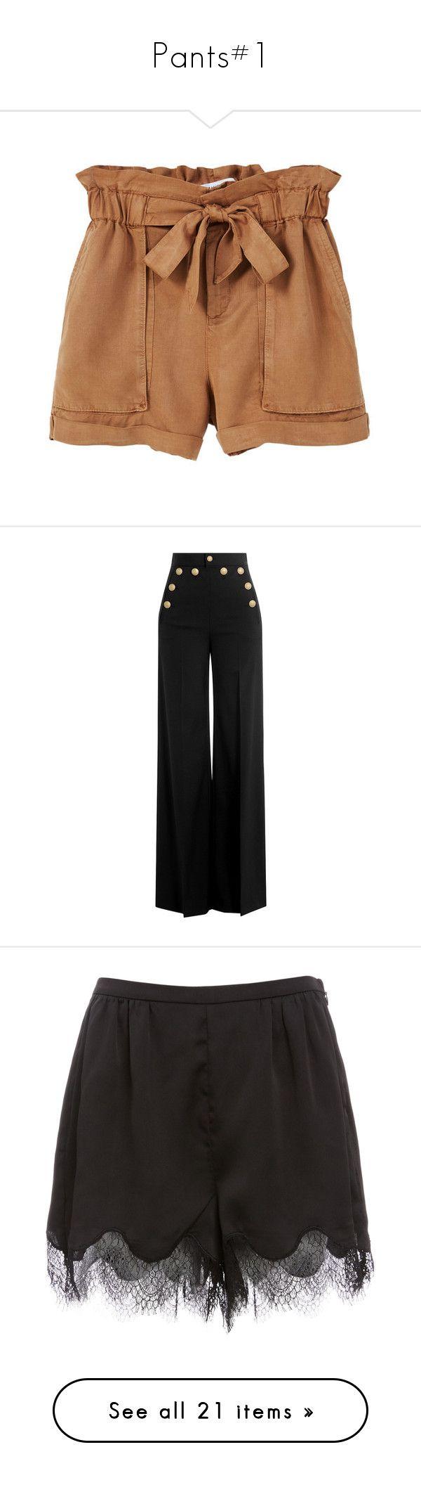 """Pants#1"" by julidrops ❤ liked on Polyvore featuring shorts, bottoms, short, pants, elastic waist shorts, mango shorts, stretch waist shorts, short shorts, elastic waistband shorts and calças"